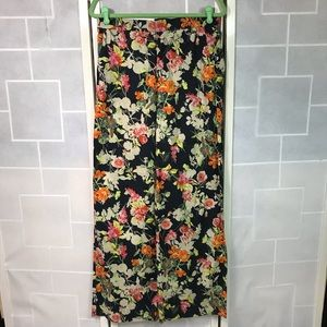 💥 Zara Woman wide leg floral print trousers L